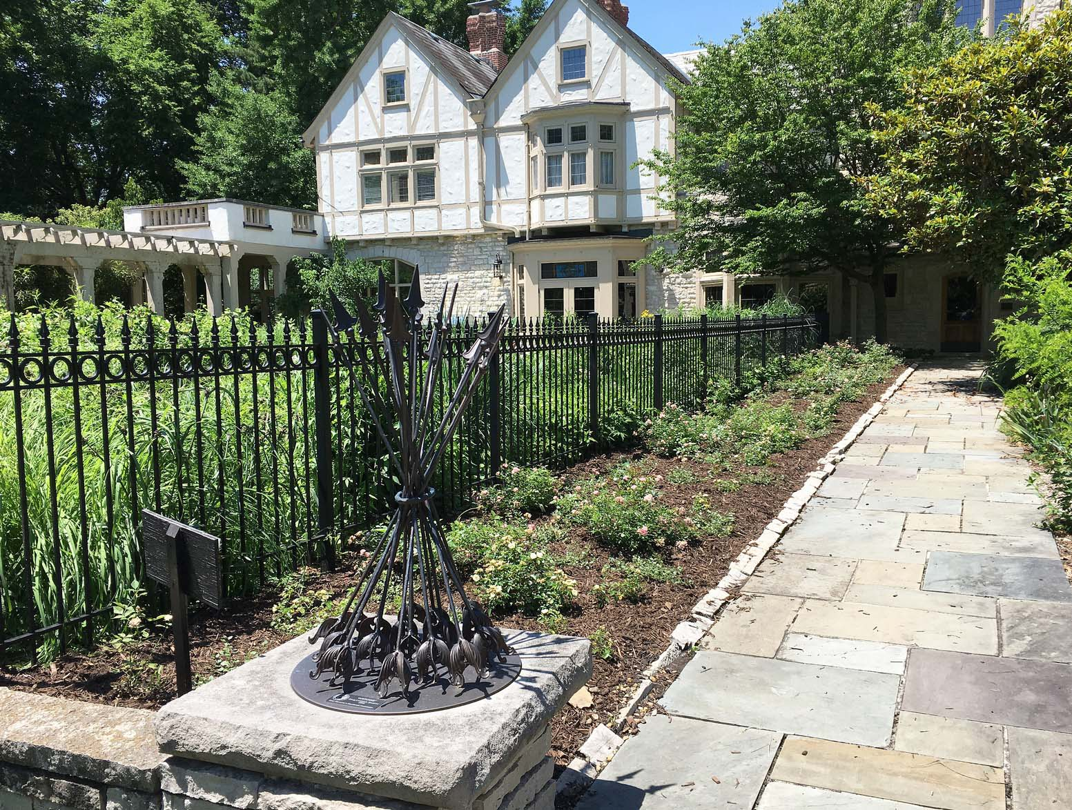 Redesigned rose garden at the Governor's mansion